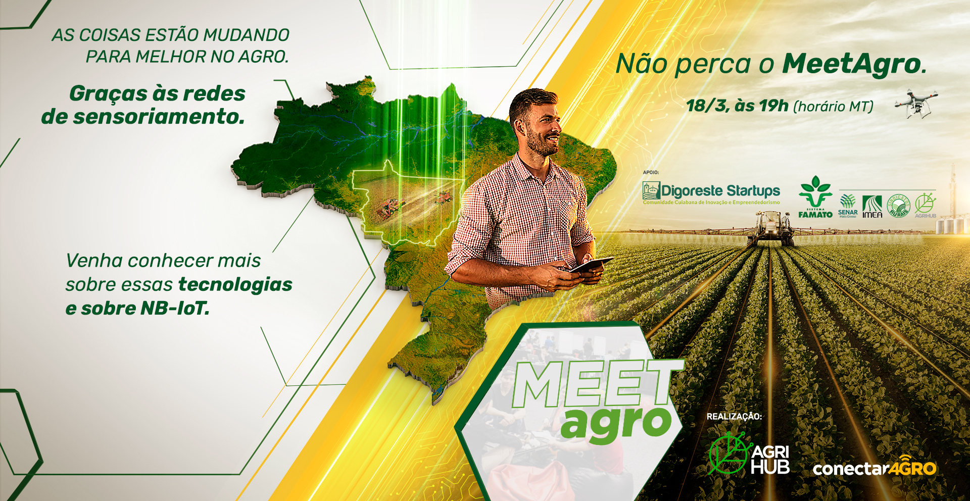 AgriHub e ConectarAGRO realizam MeeAgro virtual sobre IoT