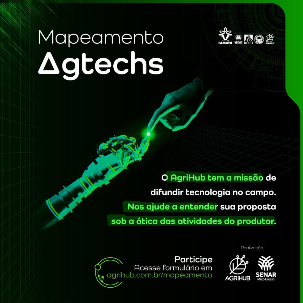 O AgriHub está mapeando e conhecendo startups e empresas de tecnologias que oferecem soluções para os desafios da agropecuária brasileira.